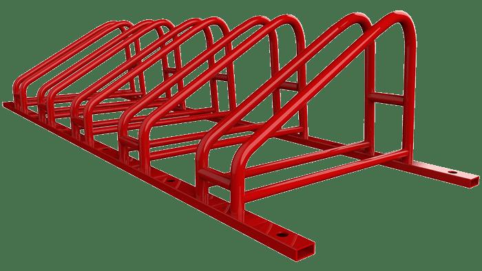 Велопарковка красная