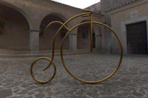 Велопарковка ретро велосипед